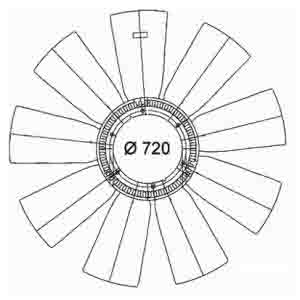 RENAULT FAN BLADE ARC-EXP.600202 5010269870